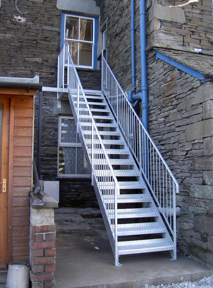 Design, Manufacture And Installation Of Domestic And Commercial Fire Escapes,  From Simple Functional Designs, To Multi Floor Access Stairs And Feature ...